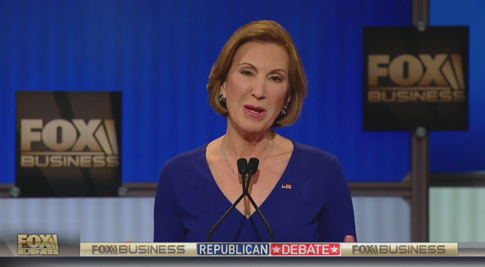 Carly Fiorina Smacks Hillary Clinton Hard in Opening Statements