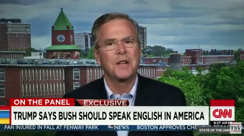 Donald Trump says Jeb Bush should speak English