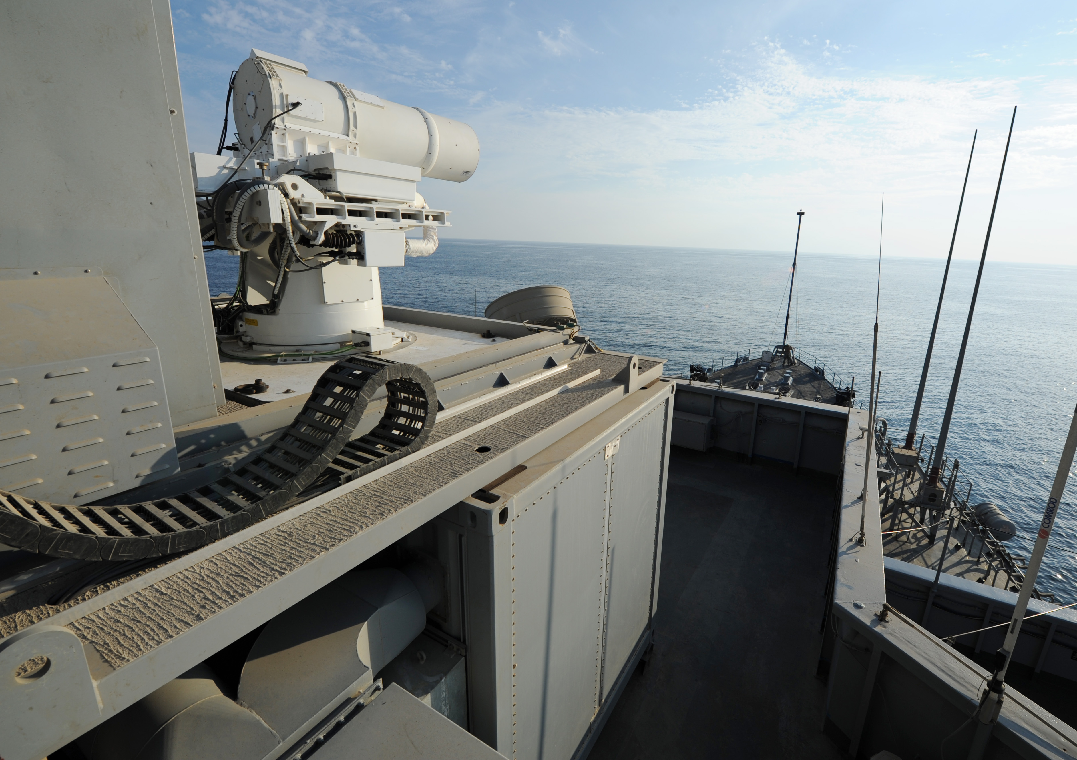 SUCCESS: Navy Tests Laser Weapon System (LaWS)