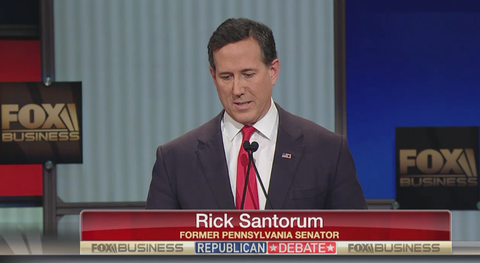 Santorum on Rebuilding the American Family