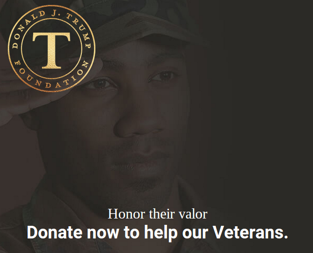 Confusion on Donald Trump's Vet Donation Website
