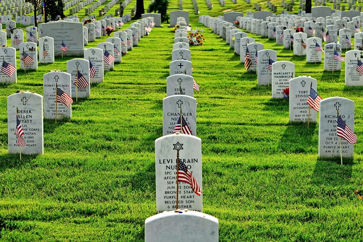 Arlington Cemetery Flags