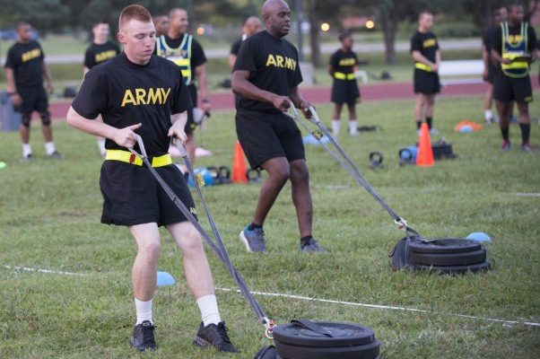 army combat fitness test sled drag