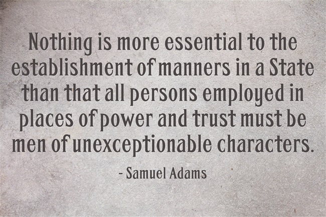 Samuel Adams on Character