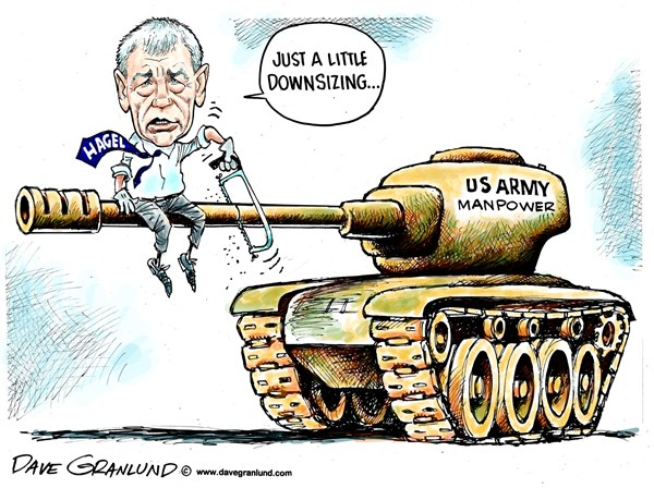Chuck Hagel on downsizing the military