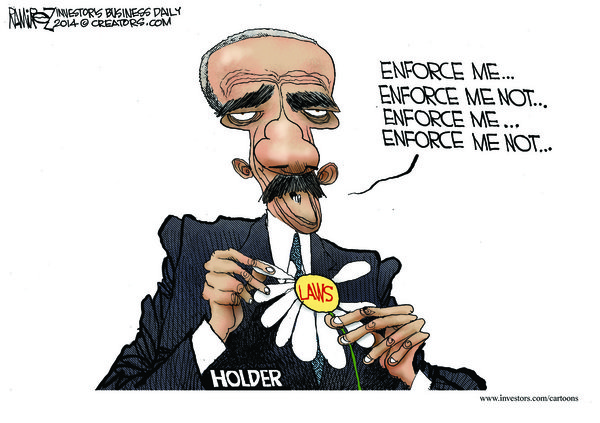 Eric Holder: Enforce Me, Enforce Me Not