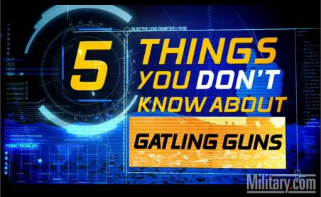 Gatling Guns: 5 Things You Don't Know