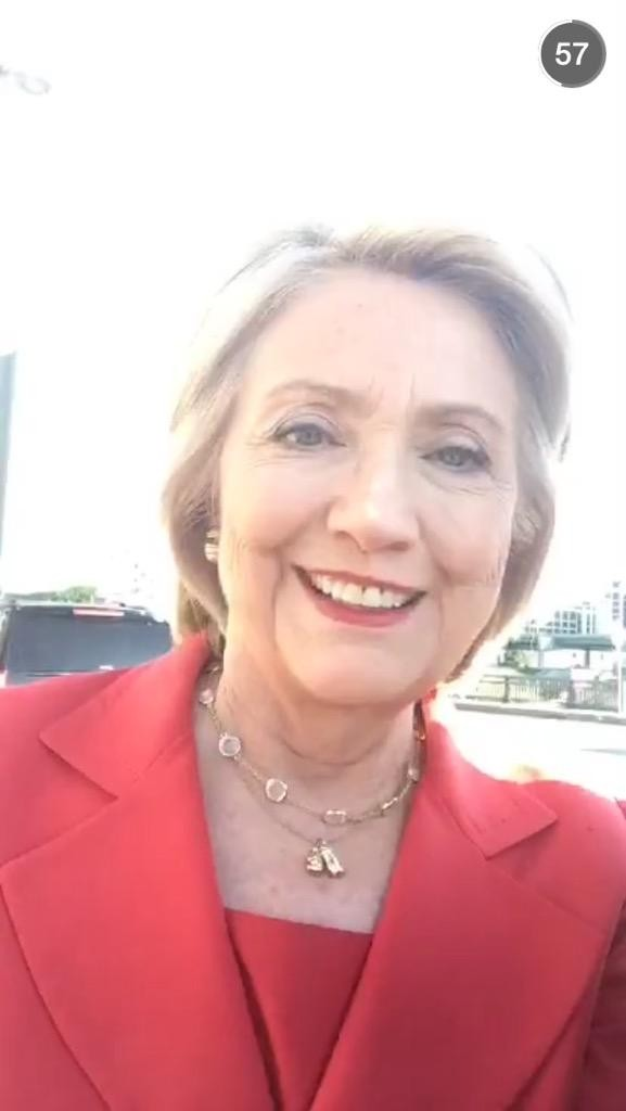 Hillary Clinton's Love Affair with Snapchat?