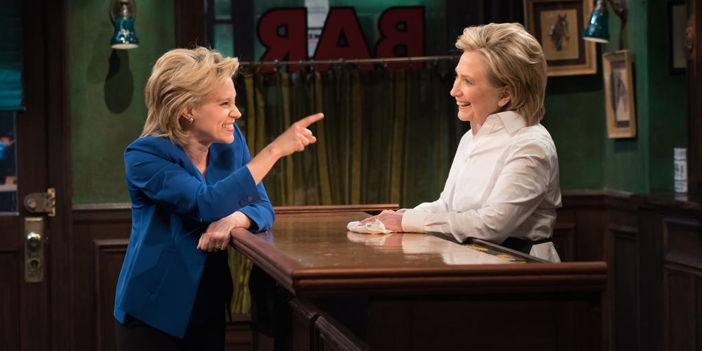 Hillary Clinton Sings, Jokes, and Drinks on 'SNL'