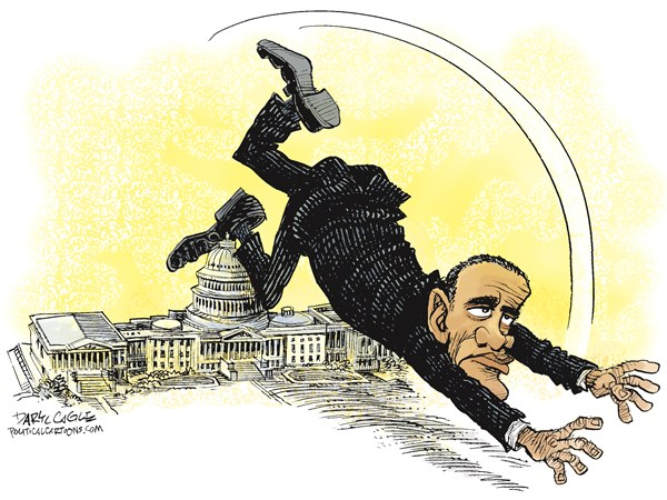 Obama Tripped Up