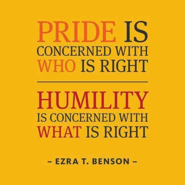 Pride vs Humility - Ezra T. Benson