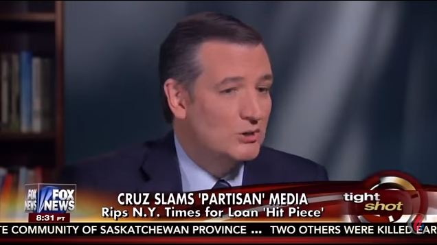 Ted Cruz on partisan mainstream media