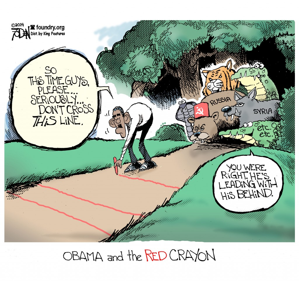 Obama has a Red Crayon and He's Not Afraid to Use It